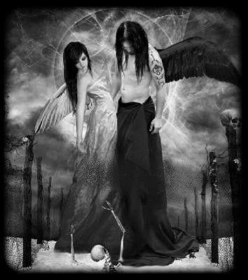 Ange et diable - Dessin diablesse ...